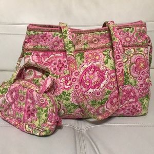 VERA BRADLEY TOTE AND COIN BAG